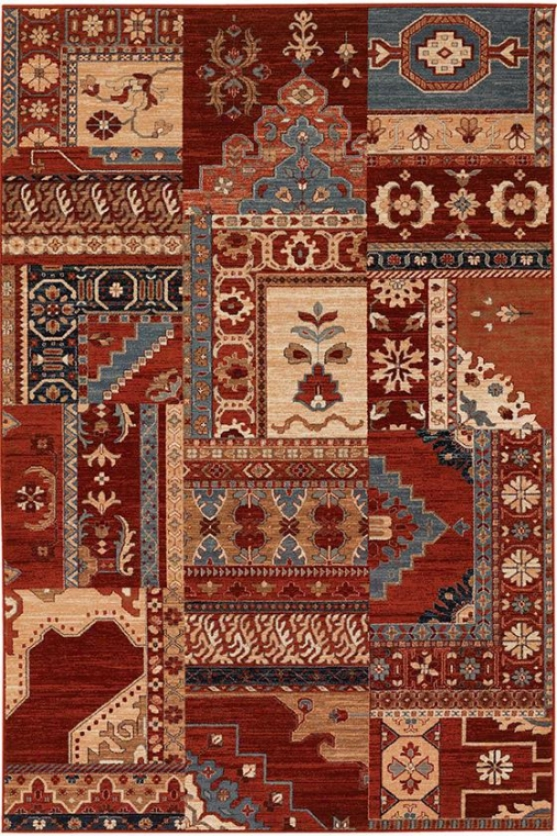 """windmere Area Rug - 4'6""""x6'6"""", Burgundy"""
