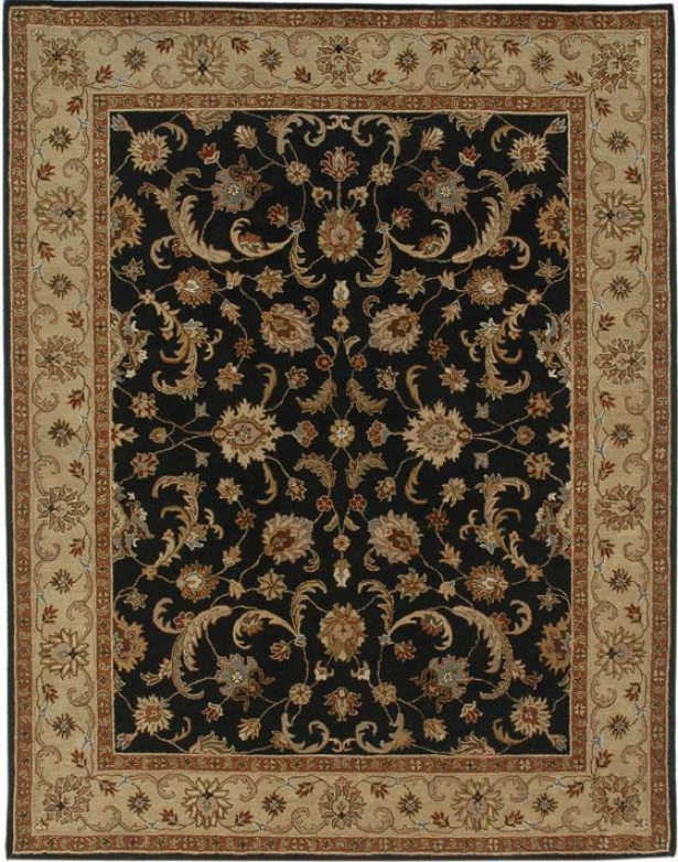 """woodbridge Area Rug - 2'6""""x8', Black"""