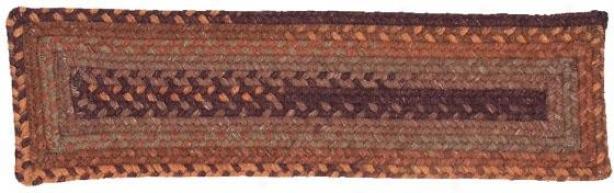 """""""wool Space Dye Stair Treads - 8""""""""2x8"""""""" 1 Tread, Brown"""""""