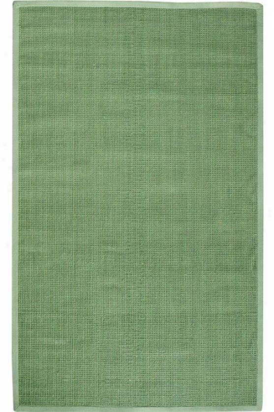 Woolen Jute Blend Rug - 4' Round, Forest Greeb