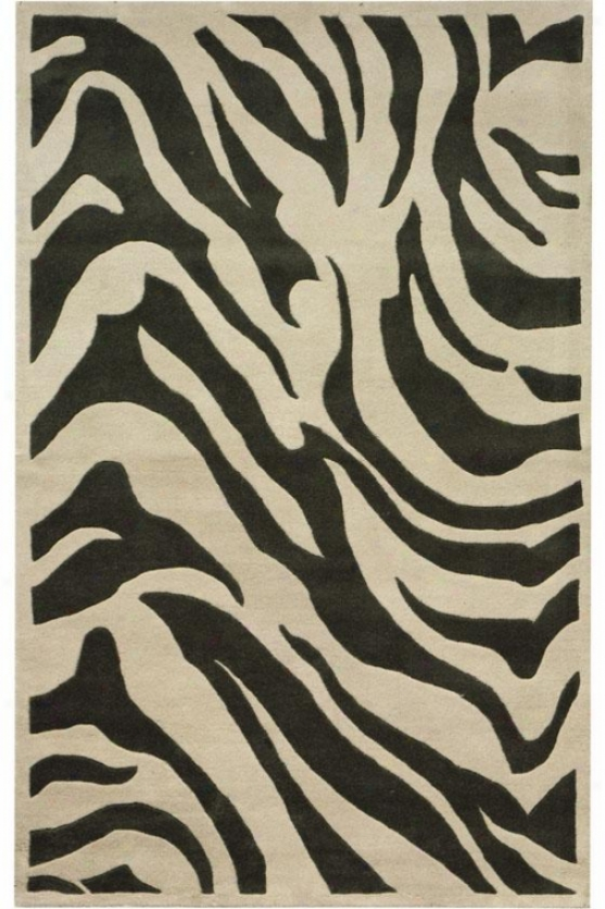 """zebra Area Rugg - 2'6""""x8 ' Runner, Gray"""