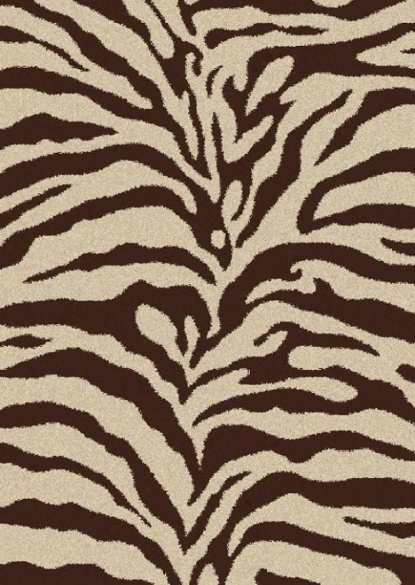 Zebra Shag Area Rug - 5'x7', Ivory