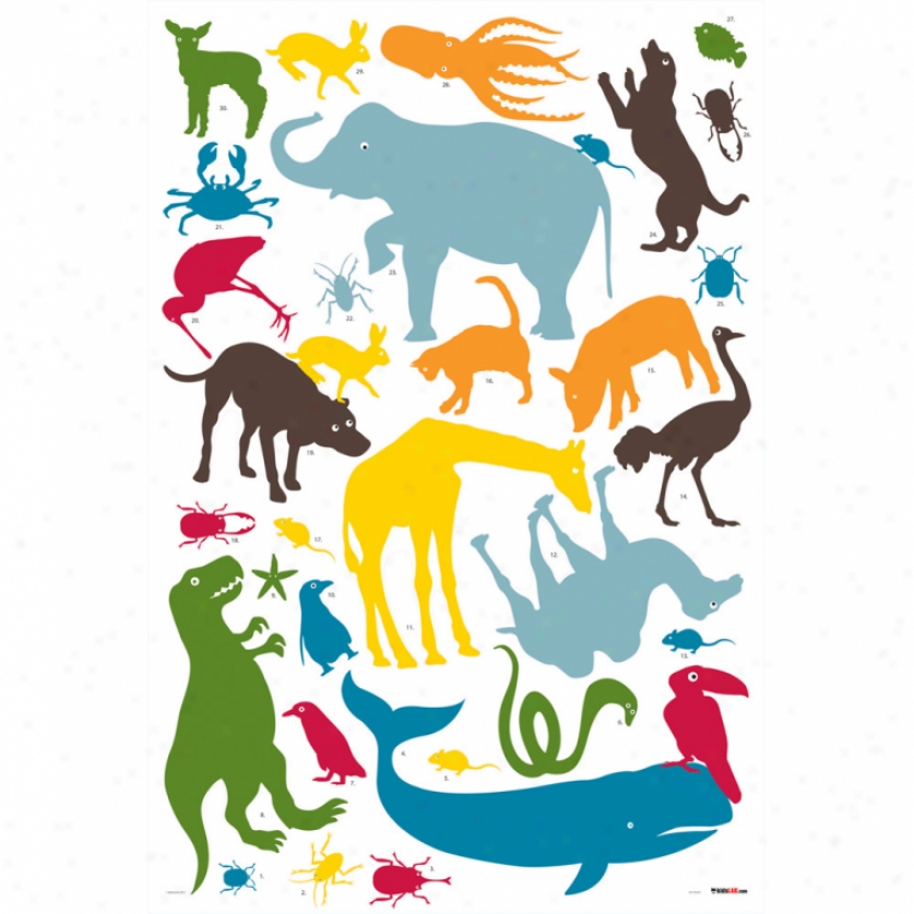 Animal Tower Giant Wall Decals