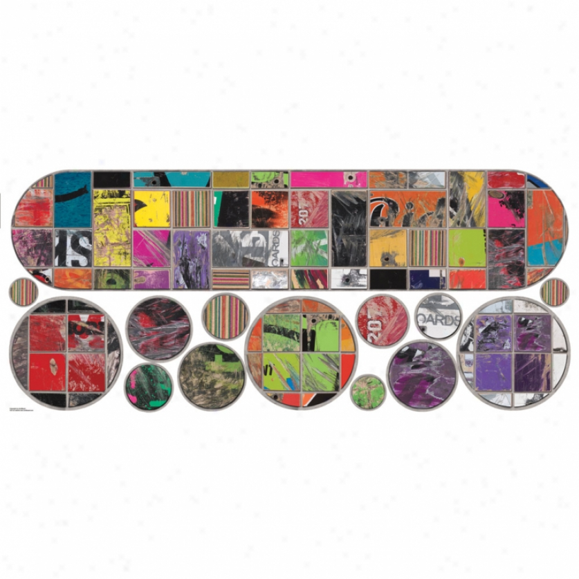 Art Of Board Skateboard & Circles Giant Wall Decals