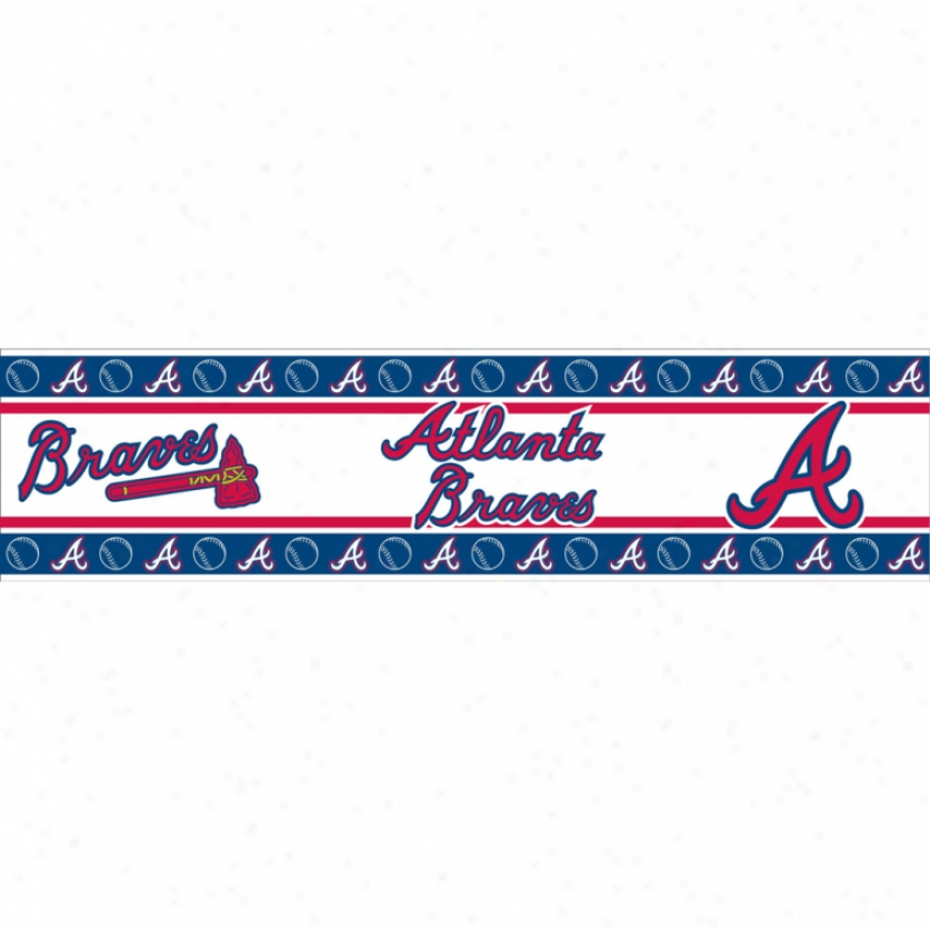 Aflanta Braves Peel & Stick Border