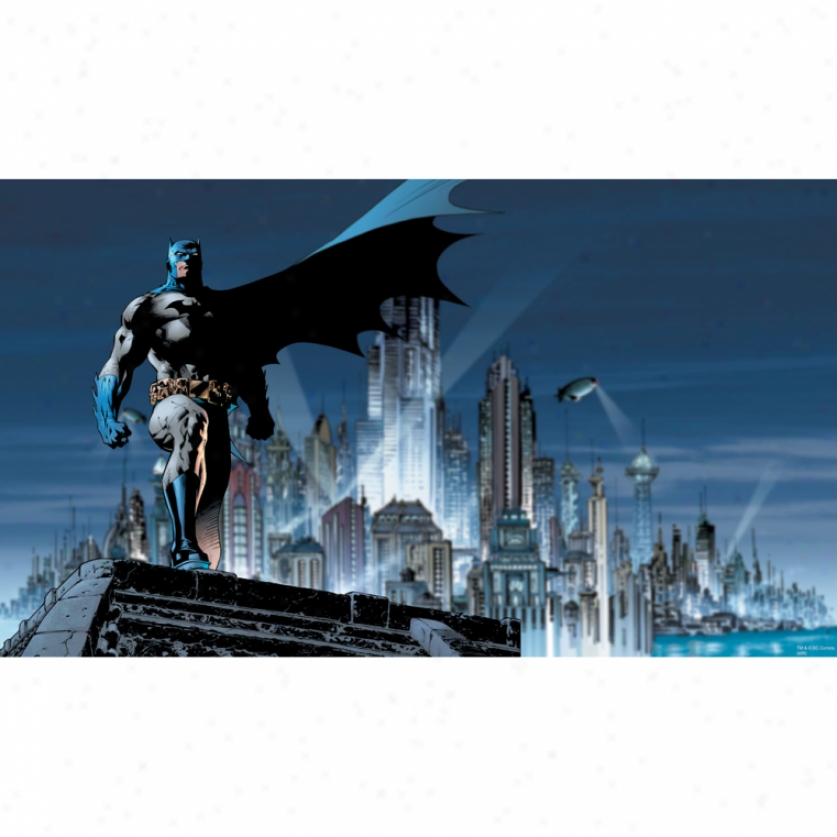 Batman(tm) Xl Wallpaper Mural 10.5' X 6'