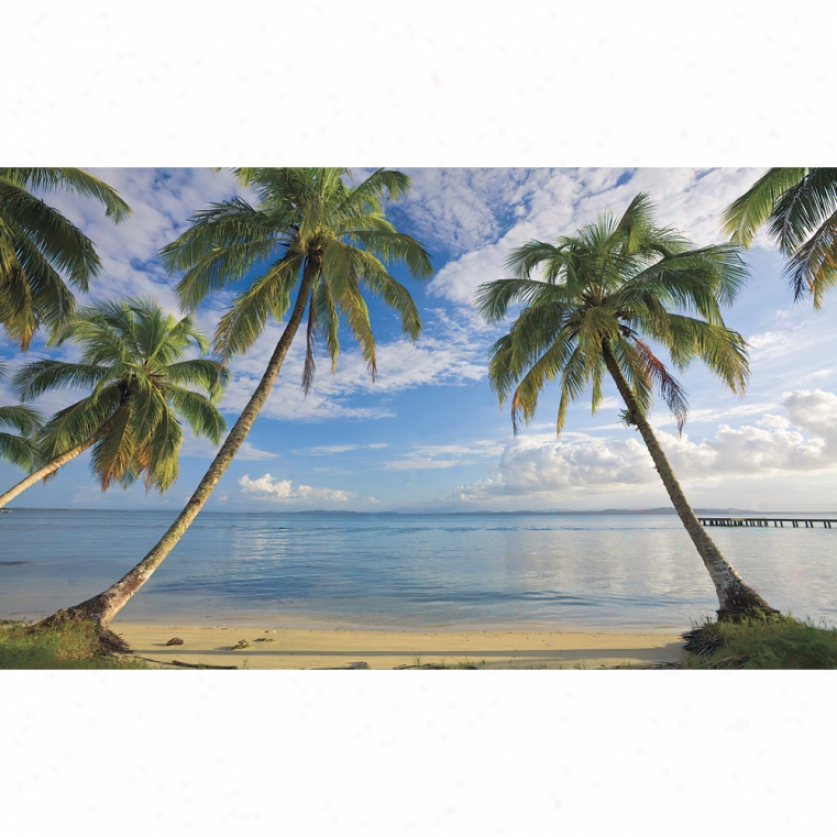 Beach View Xl Wallpaper Mural 10.5' X 6'