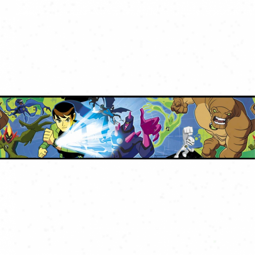 Ben 10 Alien Forec Peel & Stick Border