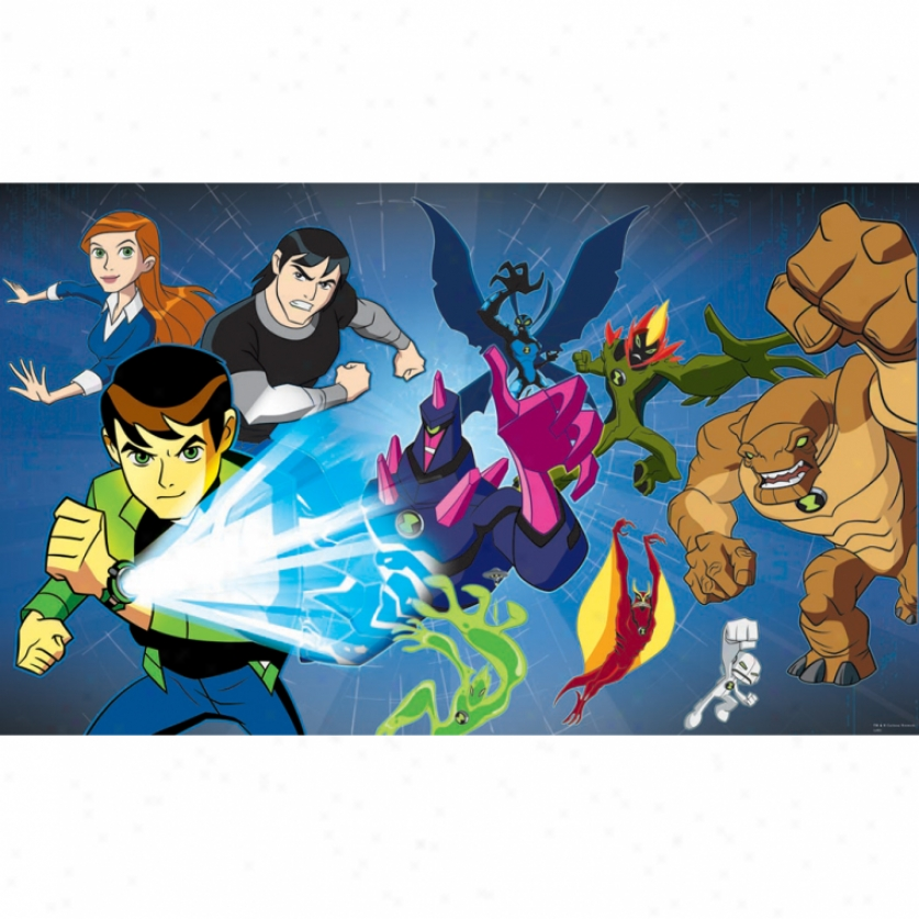 Ben 10 Xl Wallpaper Mural 10.5' X 6'