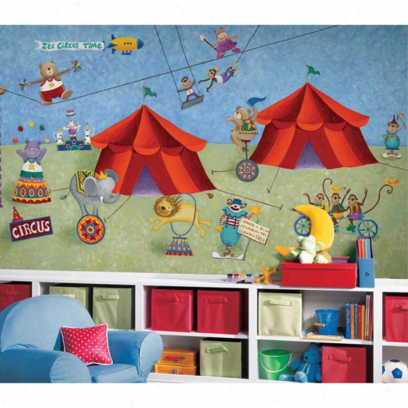 Big Top Circus Xl Wallpaper Mural 10.5' X 6'