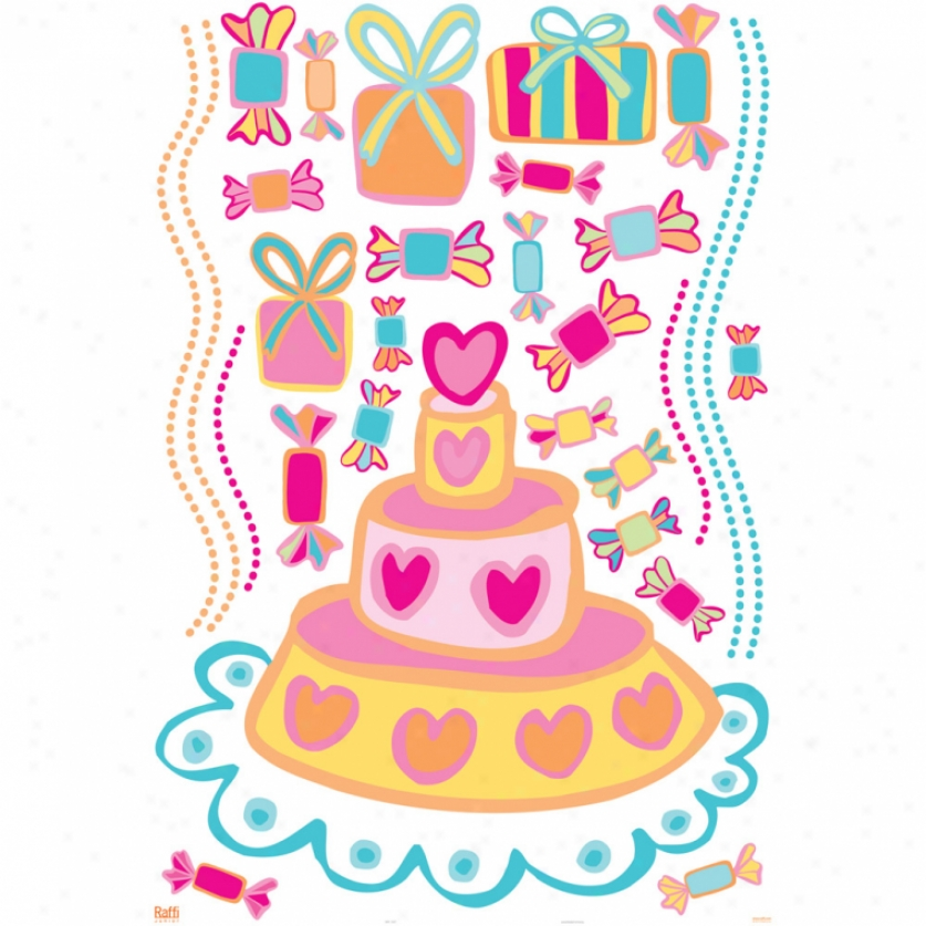 Birthday Cake Giant Wall Decals