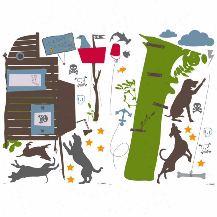 Boys Treehouse Giant Wall Decals