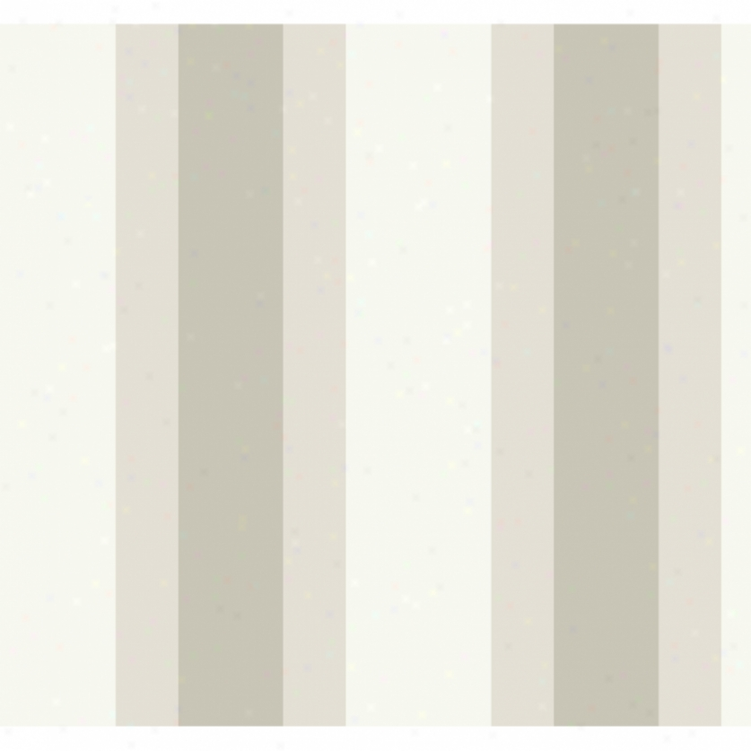 Broad Stripe Gray & Tan Wallpaper