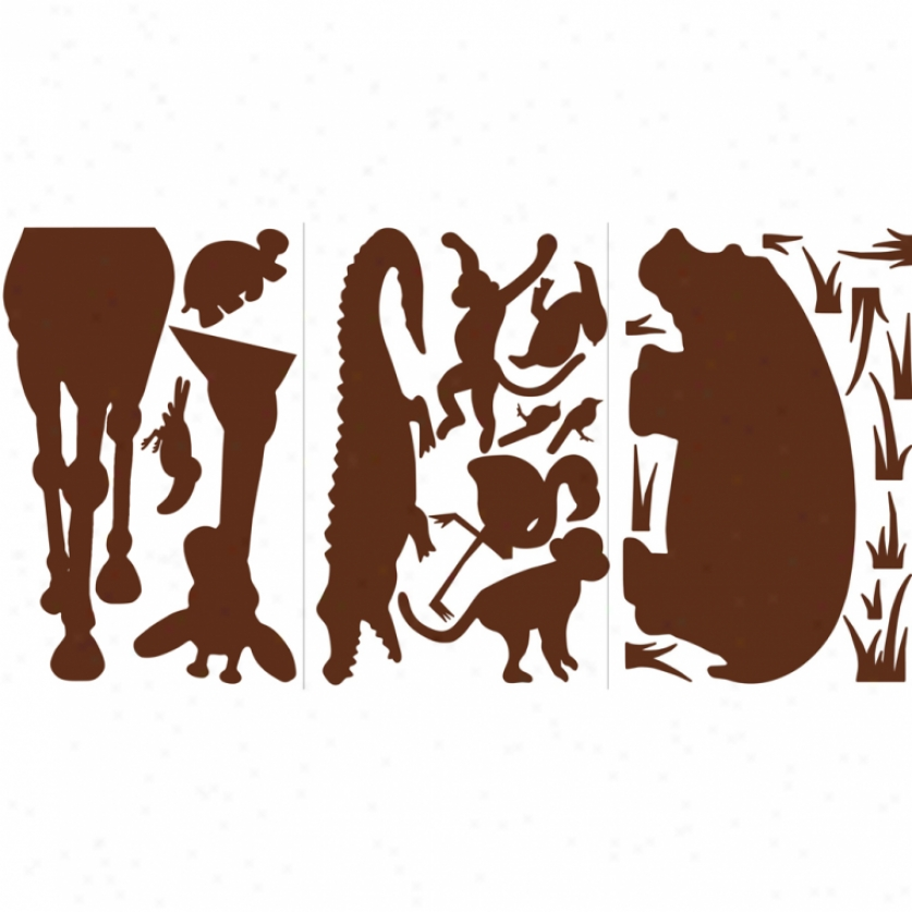 Brown Animal Silhouettes Megapack