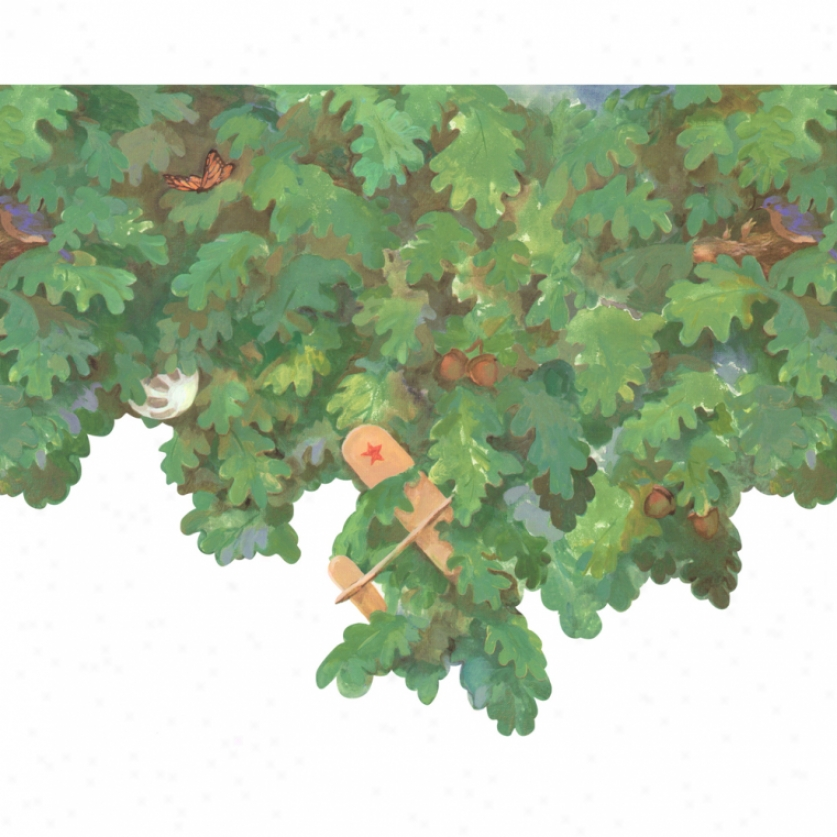 Build A Treehouse Treetop Wallpaper Border