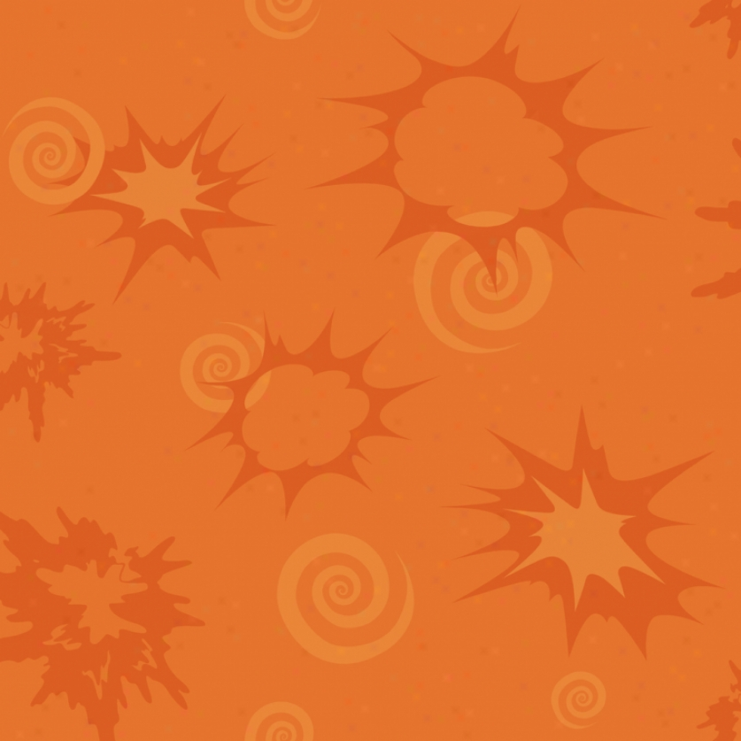 Bursts & Volute Orange Walloaper