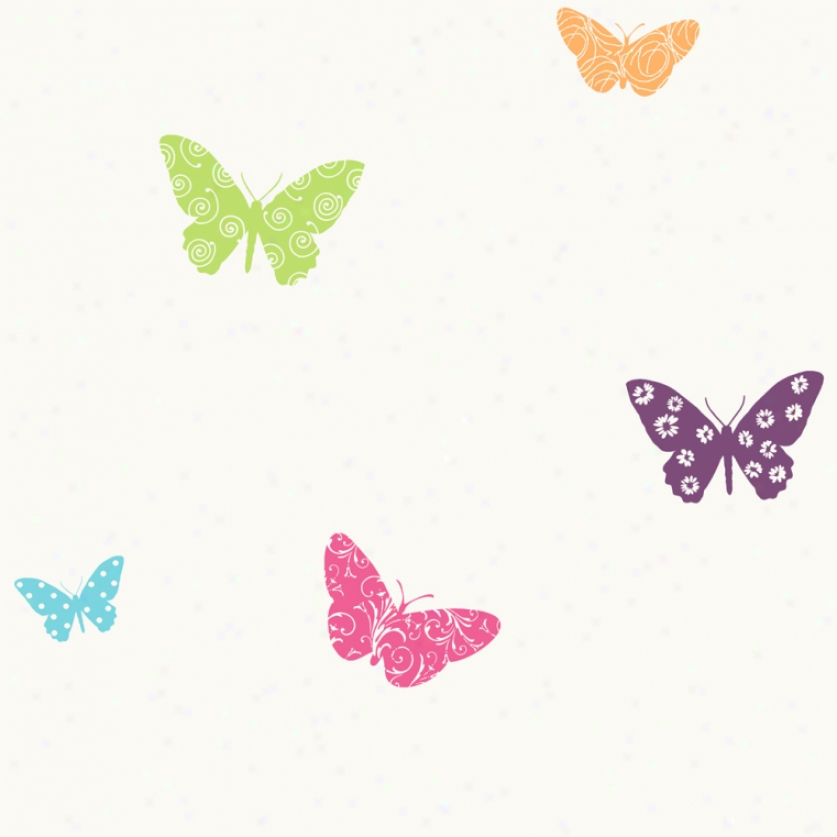 Butterfly Garden Colorful Wallpaper