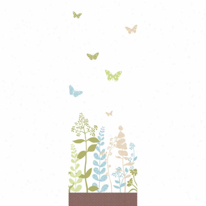 Butterfly Garden Earth Tones Wallpaper Array