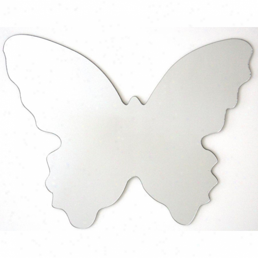 Butterfly Peel & Stick Mirror