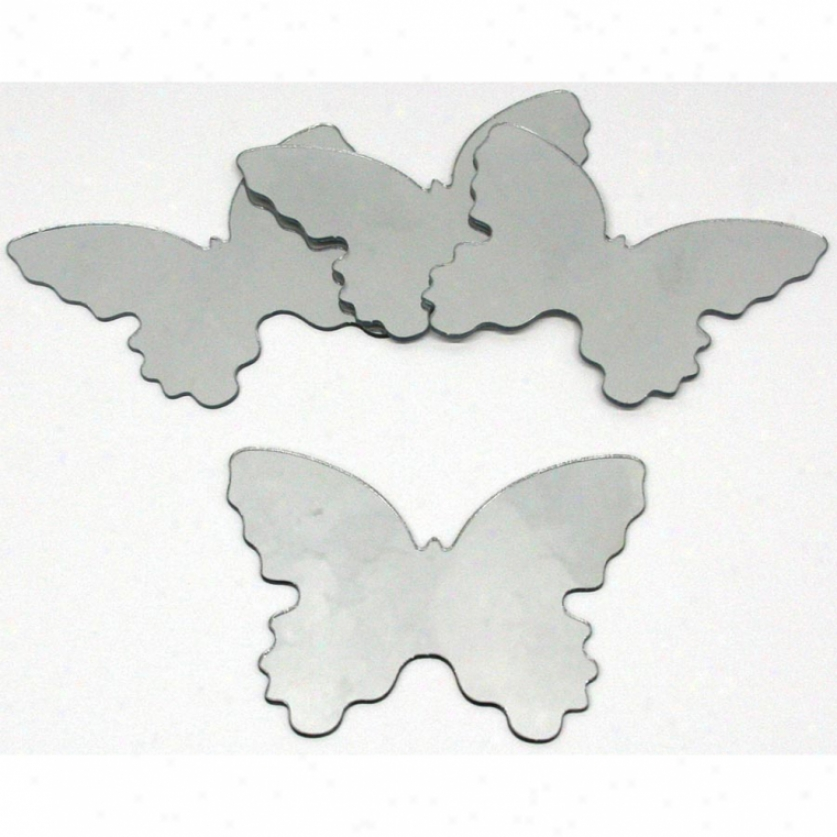 Butterfly Peel & Stick Mirrors (4 Pack)