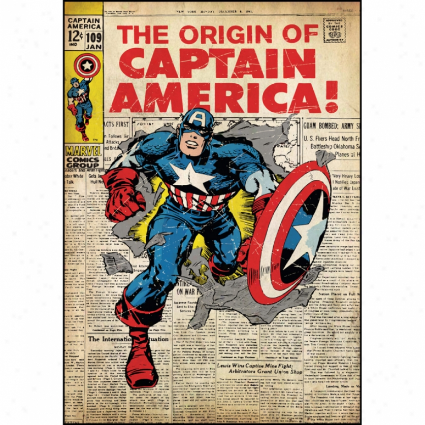 Captaiin America Comic Cover Giant Wall Decal