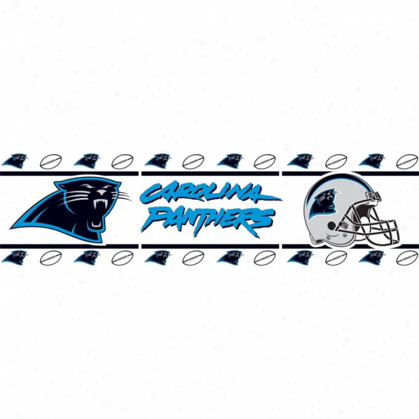 Carolina Panthers Peel & Cane Border