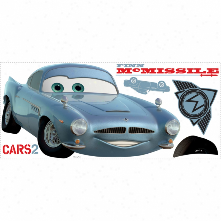 Cars 2 Finn Mcmissile Giant Wall Decal