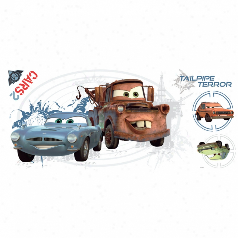 Cars 2 Mater & Finn Mcmissile Giant Wall Decals By the side of Augmented Reality