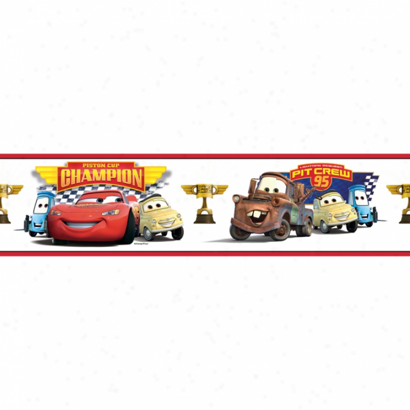 Cars Piston Cup Chanpions Peel & Stick Borde