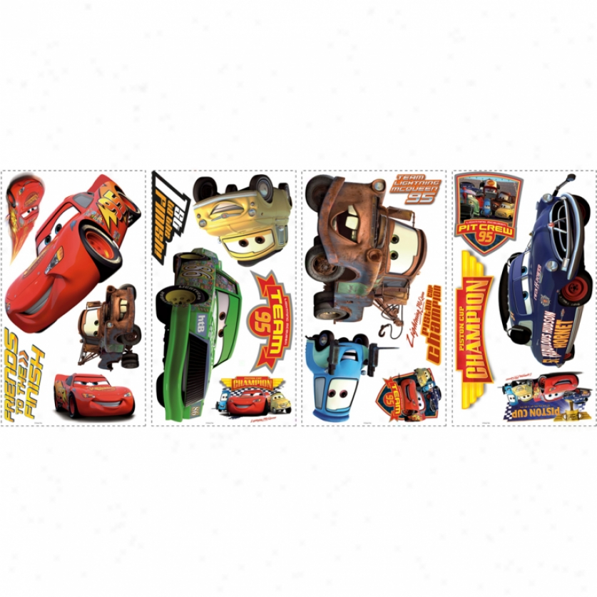 Cars Piston Cup Champions Wall Decals