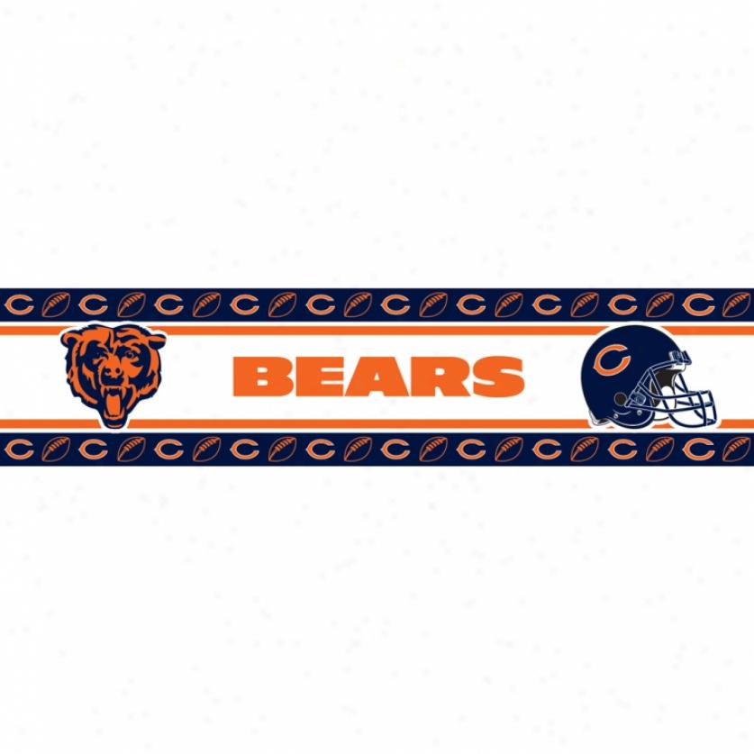 Chicago Bears Peel & Insert Edge