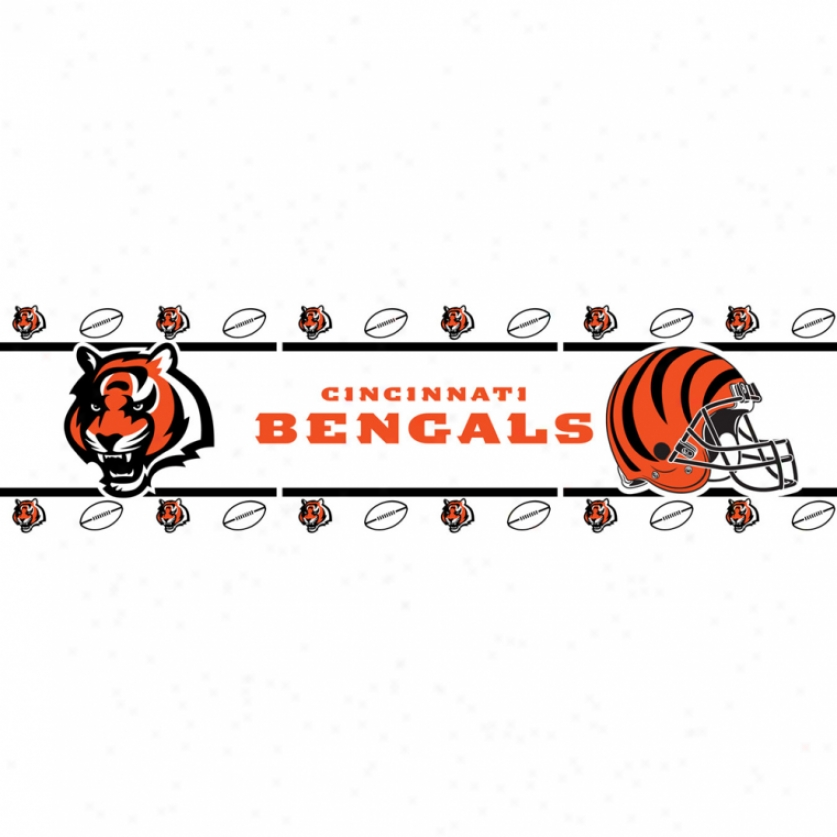 Cincinnati Bengals Peel & Stick Border