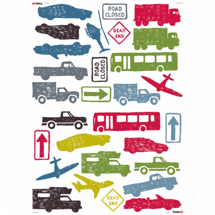 City Traffic Wall Decals