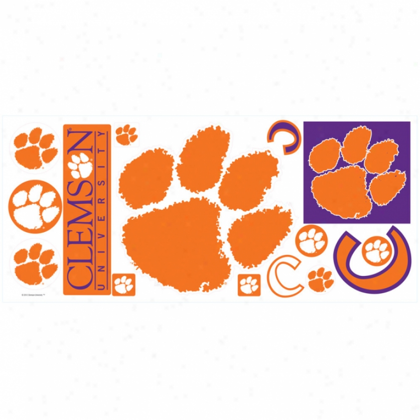 Clemson Universigy Giant Wall Decals