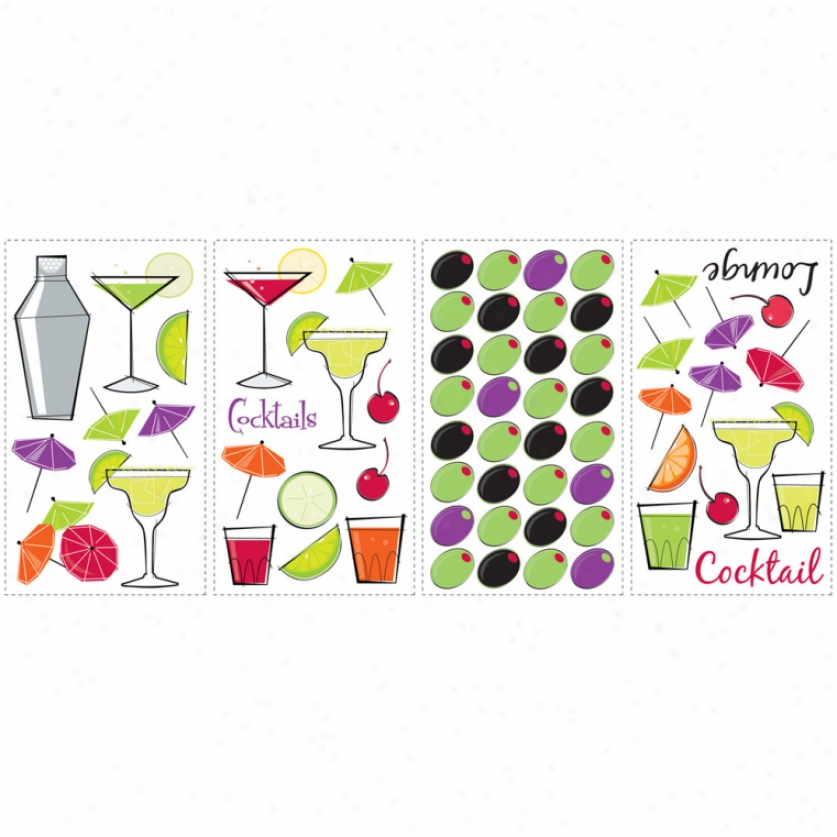 Cocktail Lounge Wall Decals