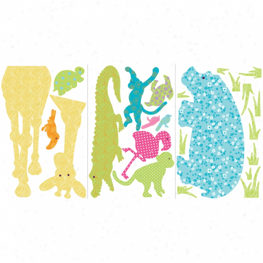 Colorful Animal Silhouettes Megapack