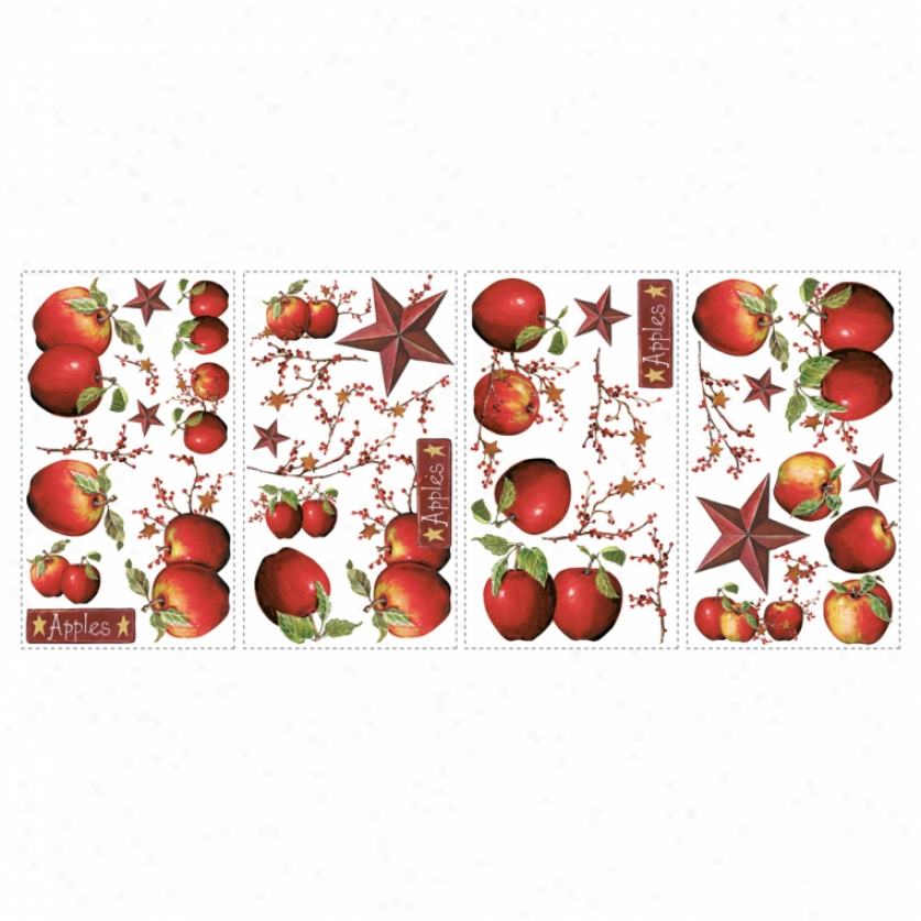 Rude Apples Wall Decals