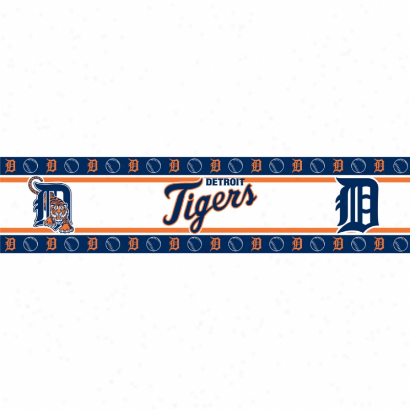 Detroit TigerqP eel & Stick Border
