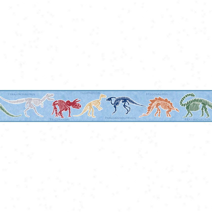 Dino Dig Blue Wallpaper Border