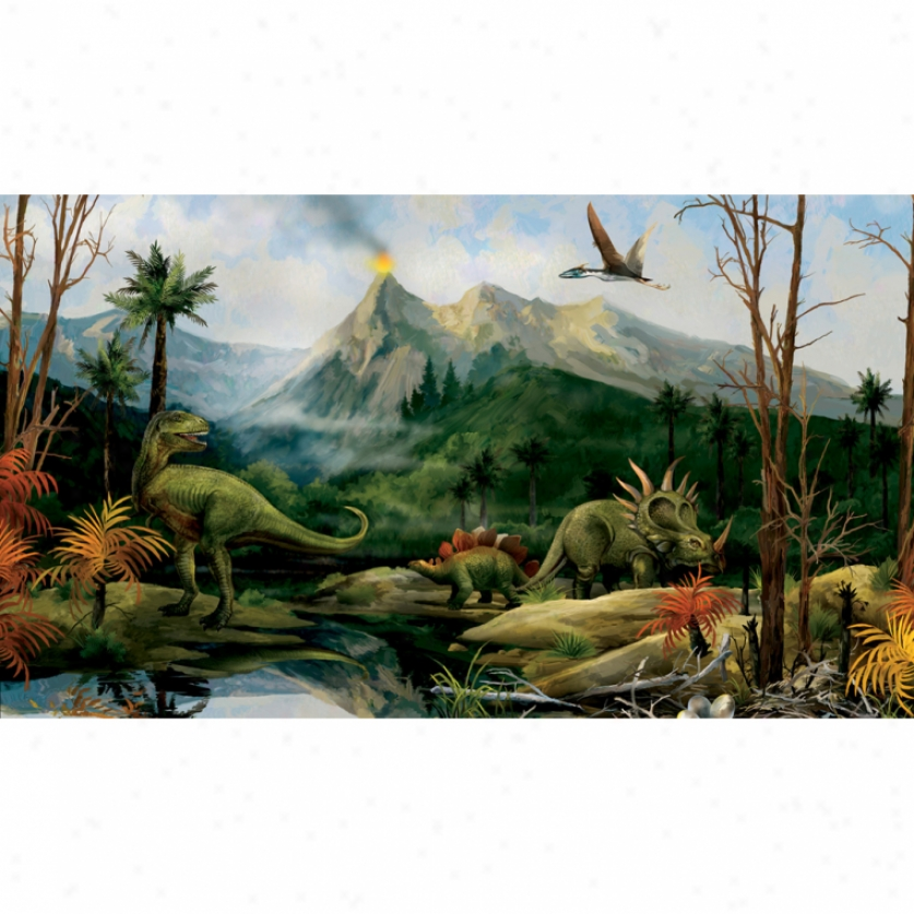 Dinosaur Xl Wallpaper Mural 10.5' X 6'