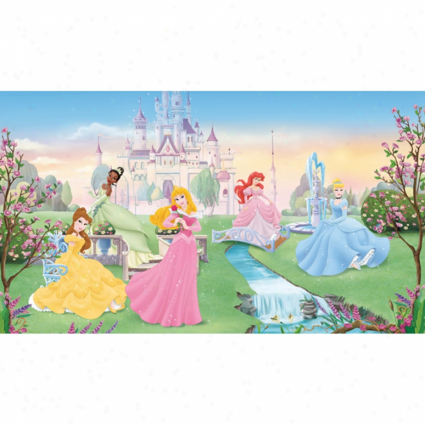 Disney Dancing Princess Xl Wallpaper Mural 10.5' X 6'