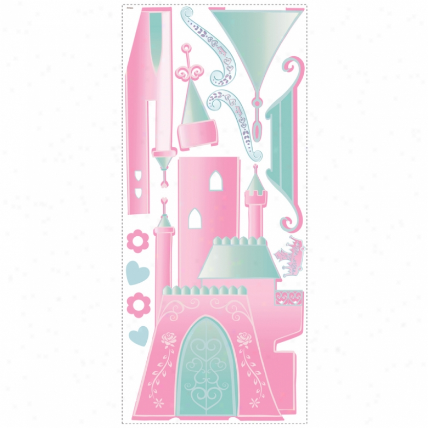Disney Princess Castls Giant Wall Decal With Alphabet