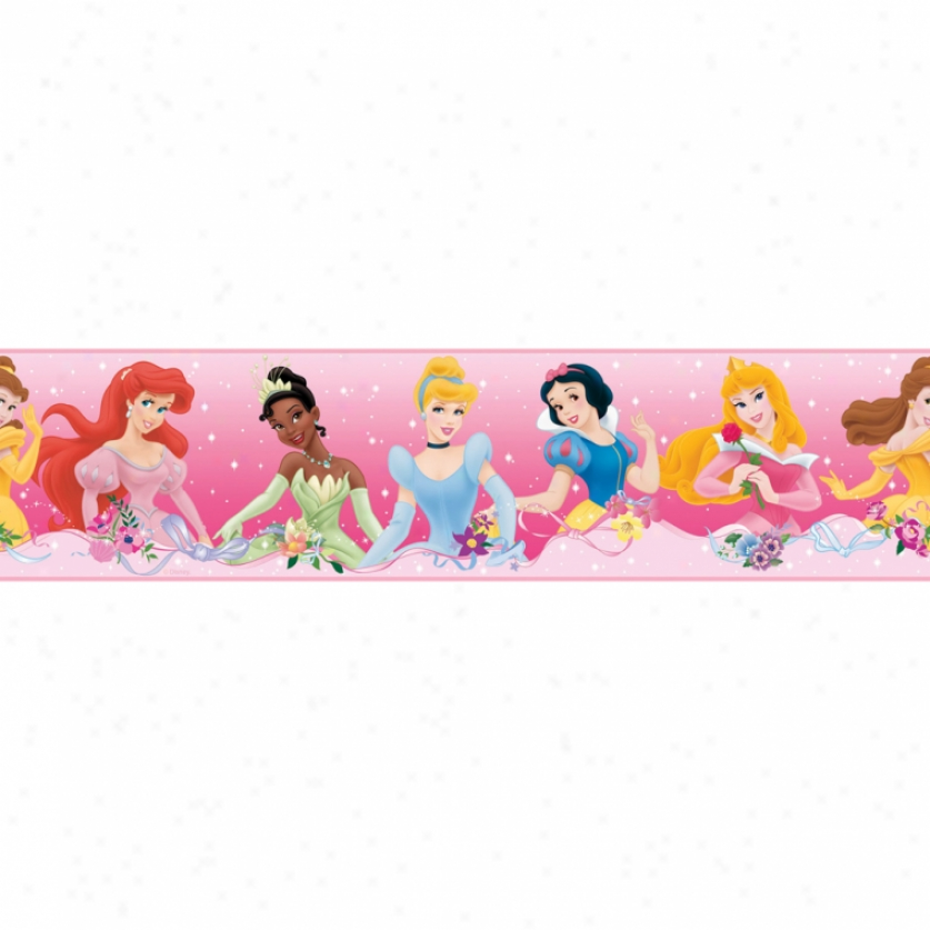 Disney Princess Dream From The Heart Pink Pare  & Stick Border