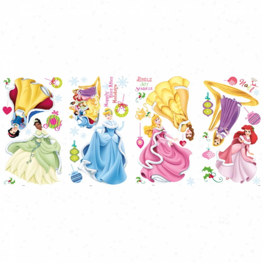 Disney Princess Holiday Princess Wall Decals