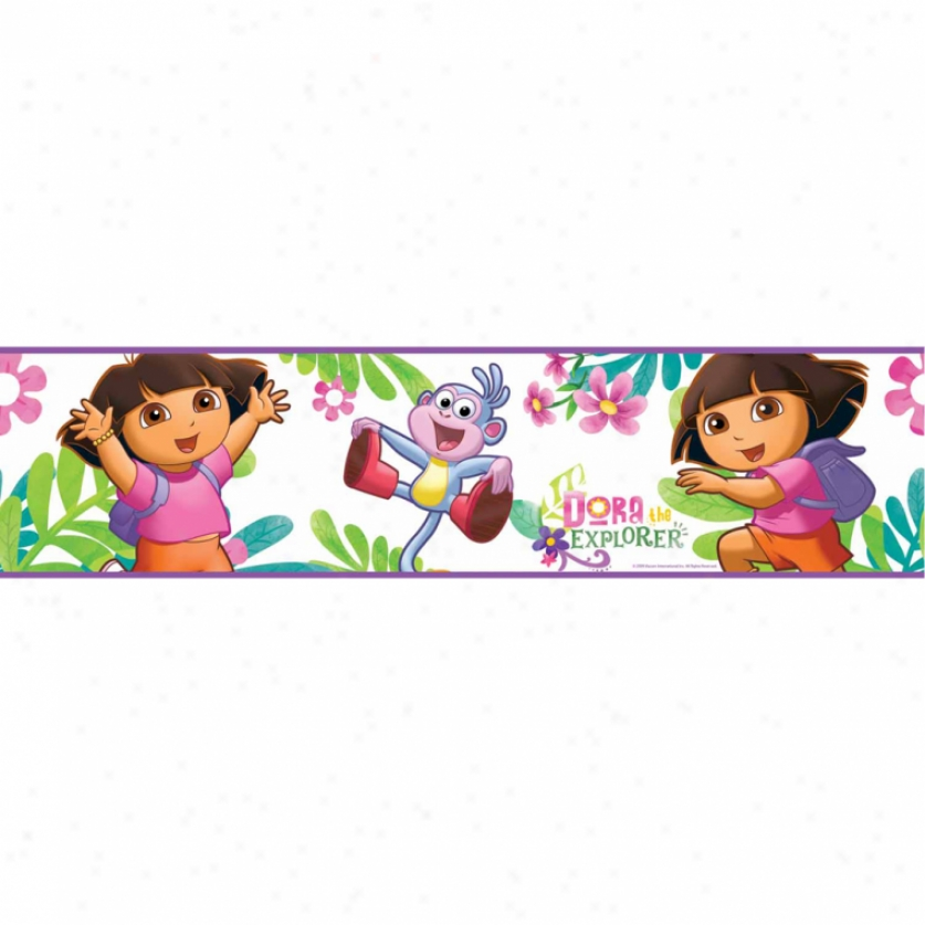 Dora The Explorer Peel & Stick Border