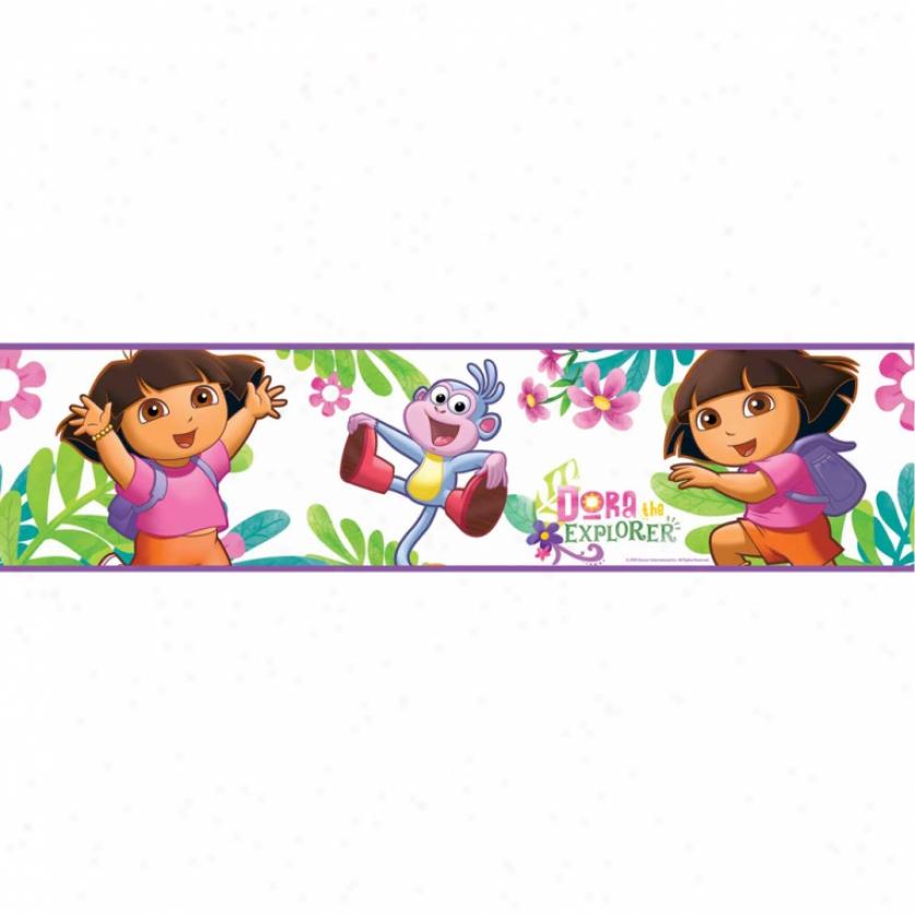 Dora The Explorer Peel & Stick Border