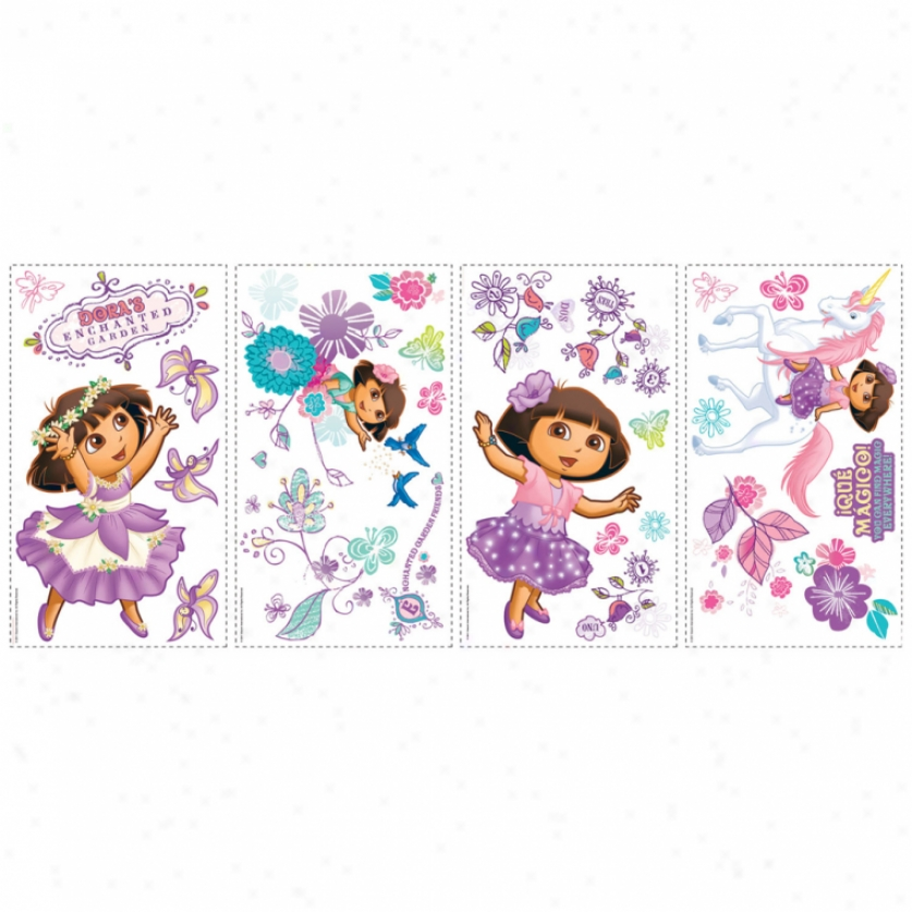 Dora's Enchanted Forest Wall Decals