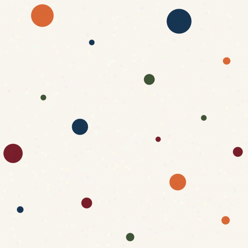 Dot Varietu White & Primary Colors Wallpaper