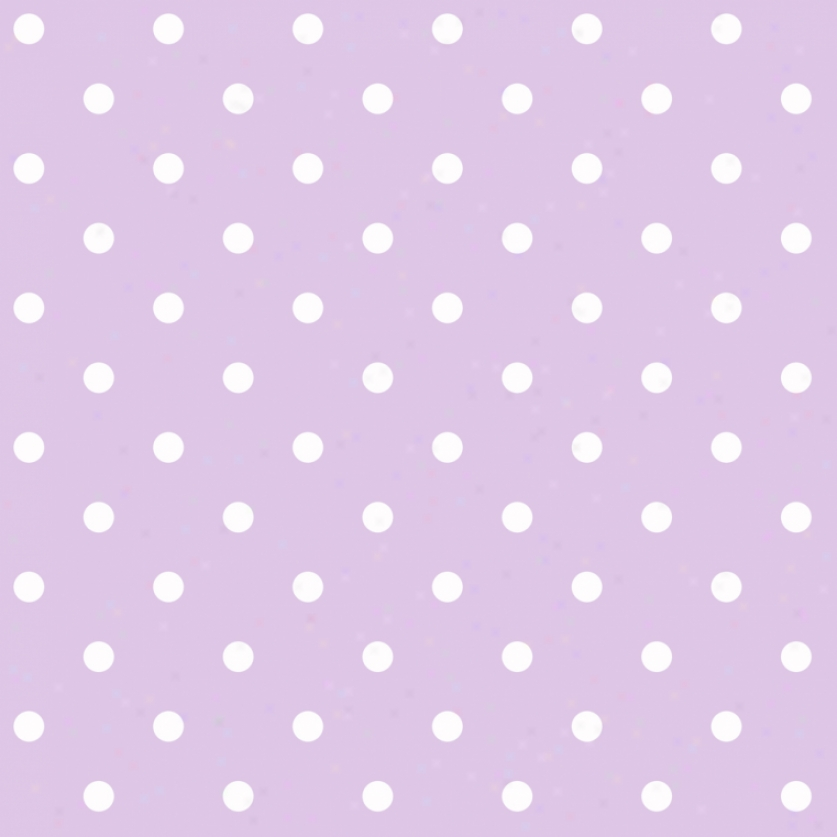 Dots Lilac & White Wallpaper