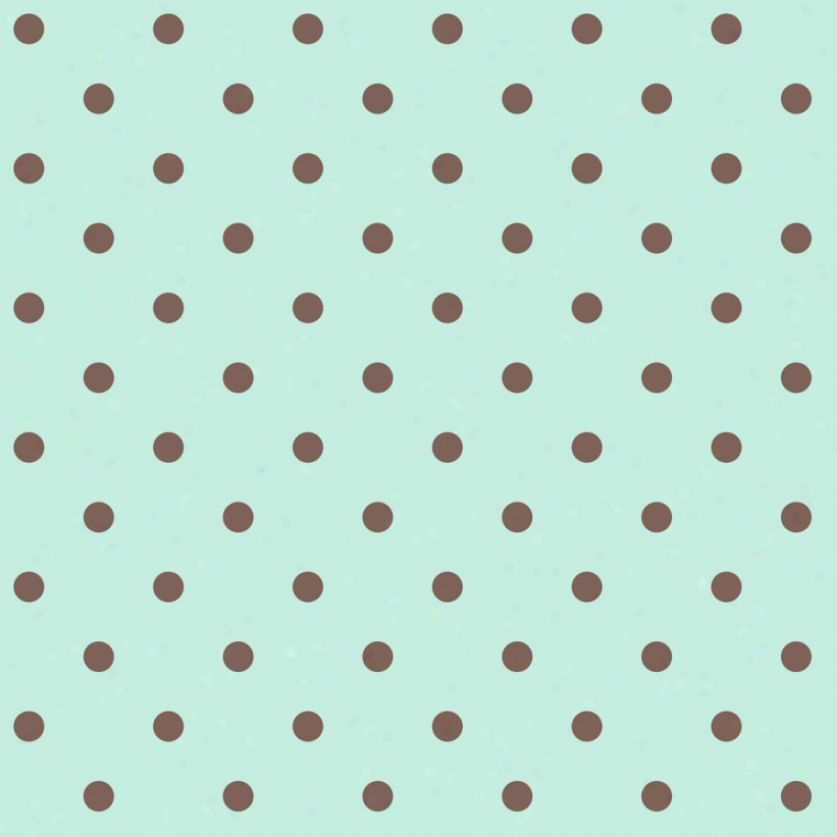 Dot sMint & Brown Wallpaper